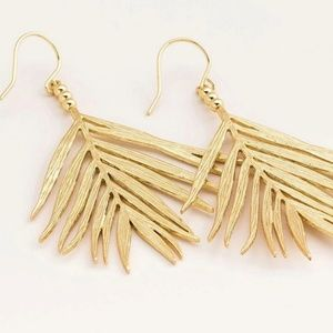 Gorjana palm earrings gold